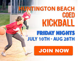 Friday Night Kickball in Huntington Beach