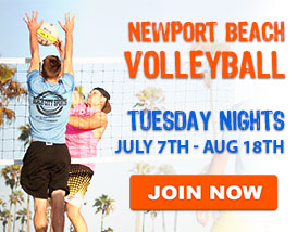 Tuesday Beach Volleyball in Newport Beach