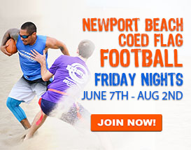 Join our Friday Beach Football League in Newport Beach!