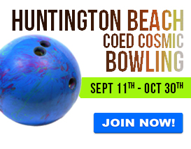 Join our Wednesday night bowling league in Huntington Beach!