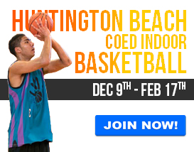 Join our Sunday Indoor Basketball League in Huntington Beach!