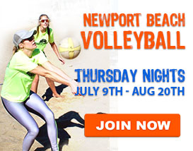 Thursday Beach Volleyball in Newport Beach