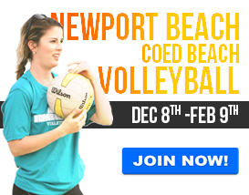Join our largest Adult Volleyball League! (Newport Beach)