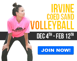 Join our Tuesday Night Sand Volleyball League in Irvine!