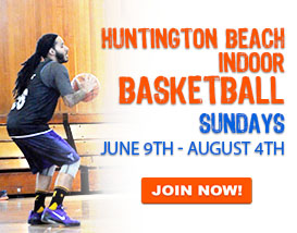 Sunday indoor basketball league in Huntington Beach