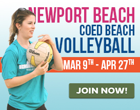 Join our Saturday Adult Volleyball League in Newport Beach!