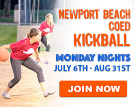 Monday Night Kickball in Newport Beach