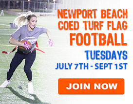 Tuesday Night Turf Football in Newport Beach