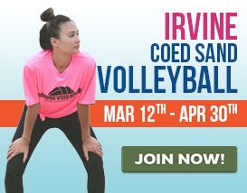 Join our Tuesday night Beach VOLLEYBALL in Irvine Great Park