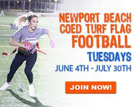 Join our Tuesday night Turf Football in Newport