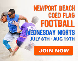 Wednesday Night Beach Football in Newport Beach