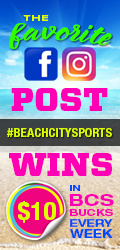 Use our hashtag when you post on IG or FB #beachcitysports